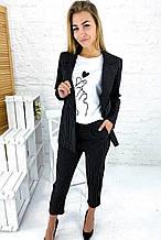 Актуальный костюм в полоску пиджак и брюки ( 8253-26 )