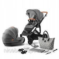 Универсальная коляска 2 в 1 Kinderkraft Prime Grey с сумкой