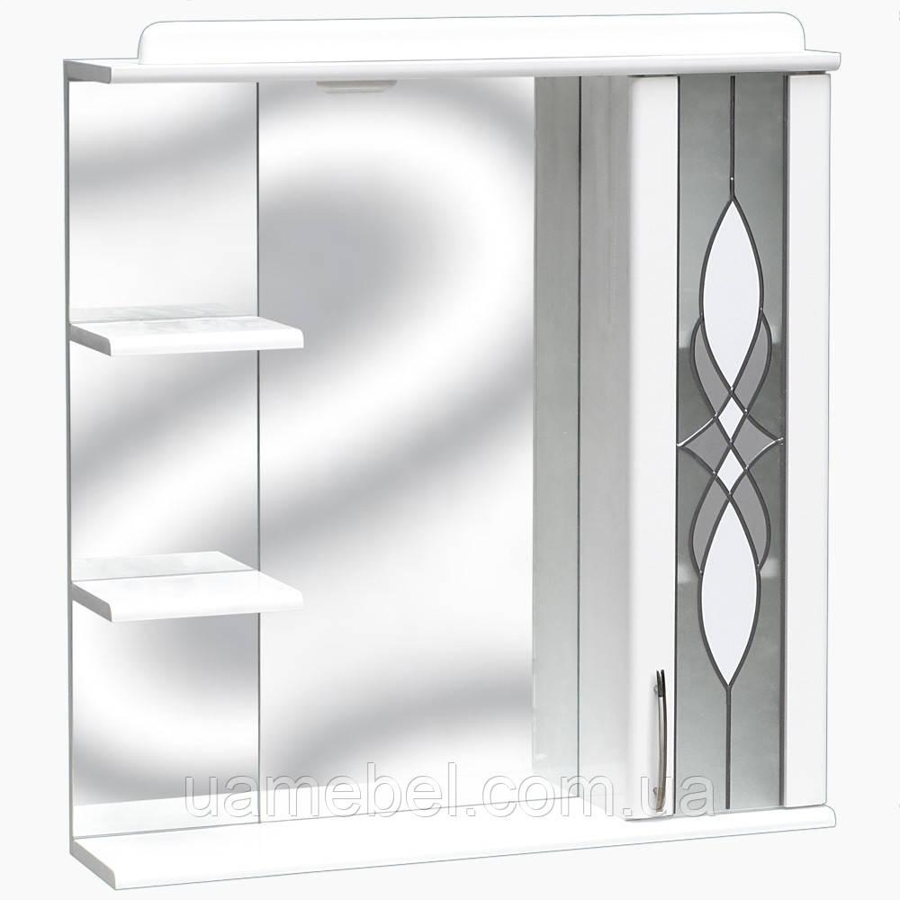 Зеркало в ванную с полкой З-02 Витраж (70-105 см)