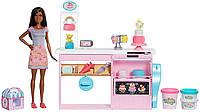 Кукольный набор Barbie Кондитерский магазин пекарня с куклой-брюнеткой Cake Decorating Mattel