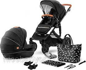 Универсальная коляска 2 в 1 Kinderkraft Prime Black с сумкой