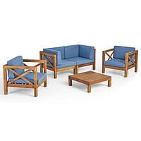 Комплект садовой мебели из 5 секций с подушками, фото 1