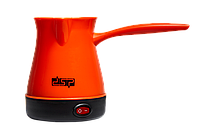 Электрокофеварка кофеварка электрическая турка электротурка розетка 220В 0,3L дисковый 600 Вт DSP KA-3027 Оранжевый