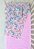 Простынь на резинке в детскую кроватку Единороги №1, фото 2