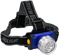 Налобный фонарь туристический DUNLOP 7 LED, фото 1