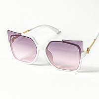 Женские солнцезащитные очки кошачий глаз  (арт. 2346/1) фиолетовые