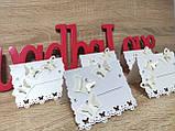 Рассадочные карточки на свадьбу Butterfly. Цвет белый., фото 3
