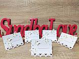 Рассадочные карточки на свадьбу Butterfly. Цвет белый., фото 4