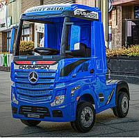 Детский электромобиль-фура- грузовик MERCEDES-BENZ ACTROS M 4208EBLR-4, синий