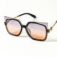 Женские солнцезащитные очки кошачий глаз  (арт. 2346/2) фиолетово-оранжевые, фото 1