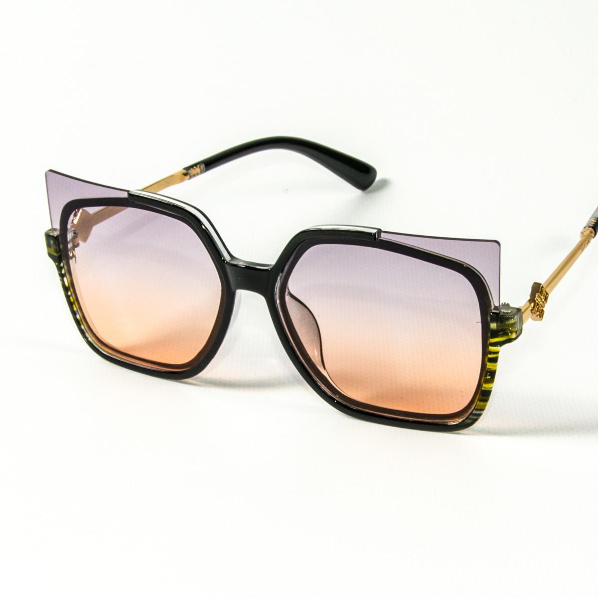Женские солнцезащитные очки кошачий глаз  (арт. 2346/2) фиолетово-оранжевые