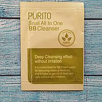 Слабокислотный очищающий гель с муцином улитки Purito Snail All In One BB Cleanser пробник 1,5мл