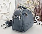 Женская сумка-клатч цвета джинс, эко кожа, фото 2