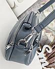 Женская сумка-клатч цвета джинс, эко кожа, фото 3