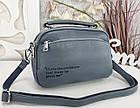 Женская сумка-клатч цвета джинс, эко кожа, фото 5