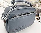Женская сумка-клатч цвета джинс, эко кожа, фото 6