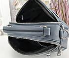 Женская сумка-клатч цвета джинс, эко кожа, фото 7
