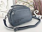 Женская сумка-клатч цвета джинс, эко кожа, фото 8