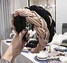 Модний обруч для волосся бежевий, фото 2