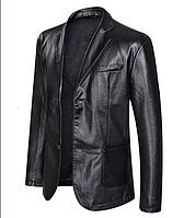 Мужская демисезонная кожаная куртка. Арт01695