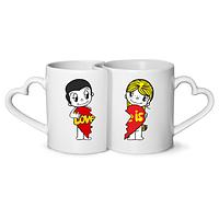 Печать на чашках для двоих