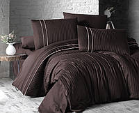 Комплект постельного белья First Choice Deluxe Satin Stripe Style Cikolata