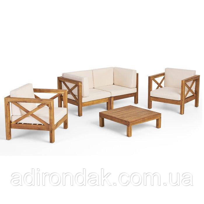 Комплект садовой мебели из 5 секций с подушками
