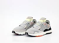 Мужские серые Кроссовки Adidas Nite Jogger (реплика)