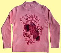 """Гольф детский для девочки розовый, """"клубнички"""", фото 1"""