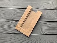 Бумажный пакет с прозрачной вставкой 180х100х60  17Ф