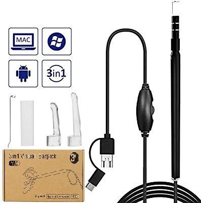3 в 1 Эндоскоп, бороскоп, мини камера для Android и ПК 2м 6 LED type-C