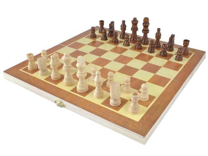 Дерев'яна яні шахи 28х28см Дерев'яні шахи 4297