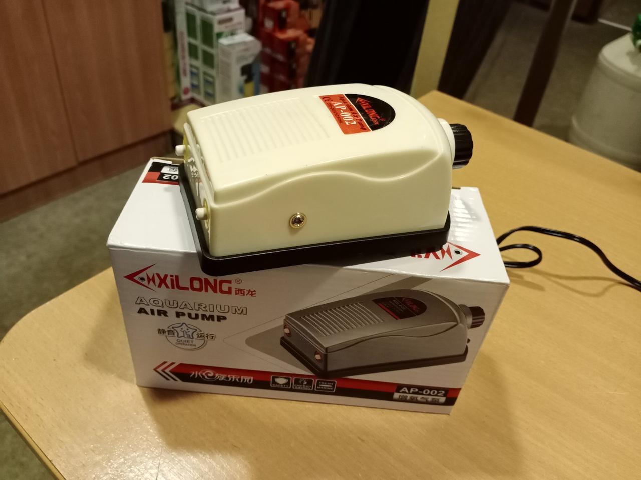 Двухканальный компрессор для аквариума Xilong AP-002 (до 150 л) с плавной регулировкой