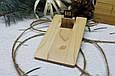 Дерев'яна розкладна флешка «Кредитна карта» з індивідуальним гравіюванням Клен на 32Gb (2.0), фото 2