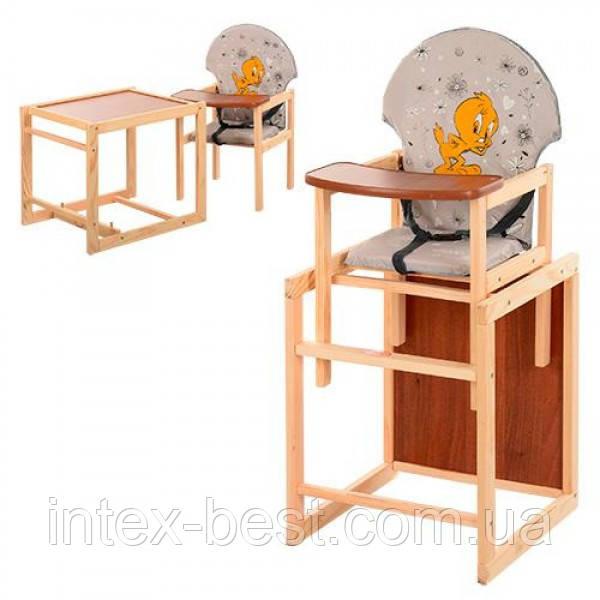 Детский деревянный стульчик для кормления M V-010-26-7