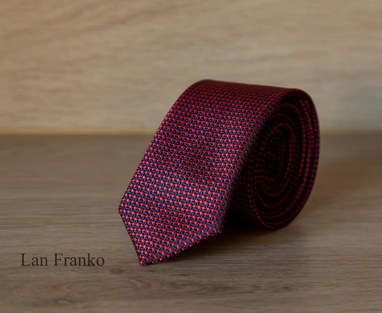 Краватка чоловіча вузька з візерунком  Lan Franko