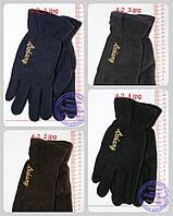 Мужские флисовые перчатки двойные - Черные, серые, коричневые, синие - 4-2, фото 1