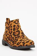 Леопардовые осенние женские ботинки. Размеры 36, 37, 38, 39, 40