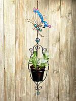 Декоративное подвесное кашпо Райская бабочка Engard 12х12х60 BF-22
