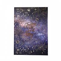 Блокнот для записей А4/96 кл. 7БЦ, лам.софт-тач+фольга золото STARS YES 151596