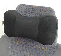 Подушки-подголовники EKKOSEAT в автомобиль - трёхсекционная, черная.