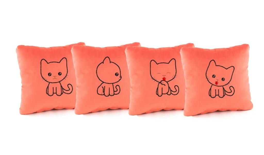 Комплект декоративных подушек «Kotyata» (28*28)  в расцветках