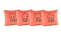 Комплект декоративных подушек «Kotyata» (28*28)  в расцветках, фото 1