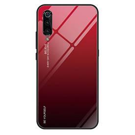 Чехол Gradient для Xiaomi Mi 9 SE бампер накладка Red-Black