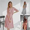 Р 42-48 Нежное платье - халат в горошек 21128