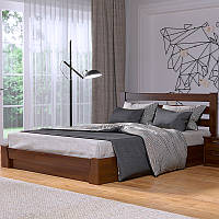 Деревянная кровать Селена с подъёмным механизмом из бука. Полуторная или двуспальная кровать из дерева