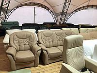 Кожаный мягкий диван б у из Германии