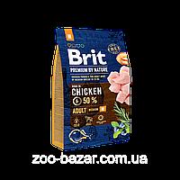 Сухой корм Brit Premium Adult M для собак средних пород с курицей 15 КГ