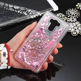 Чехол Glitter для Xiaomi Redmi 4 Prime / Redmi 4 Pro / 3/32 бампер Жидкий блеск Розовый