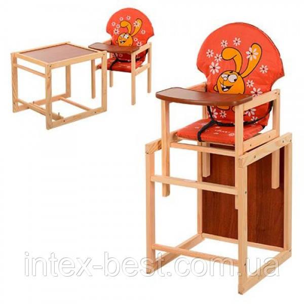 Детский деревянный стульчик для кормления M V-010-27-3